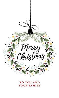 Wreath Christmas Card